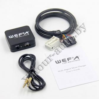 MP3 USB AUX адаптер Wefa WF-605 для Volkswagen 12pin - читает FLAC!!!