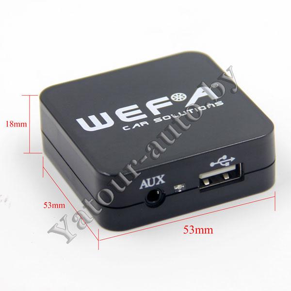 MP3 USB AUX адаптер Wefa WF-605 для MAZDA - читает FLAC!!!